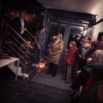 Axel Delan begrüßt seine Gäste