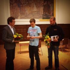 Blumen für die Preisträger.
