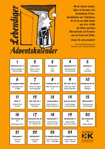 Adventskalender-Plakat 2015